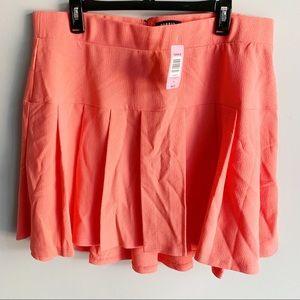 Torrid Coral Pleated Mini Skater Skirt
